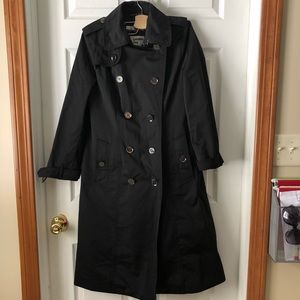 London Fog Heritage Trench Long Coat Size S